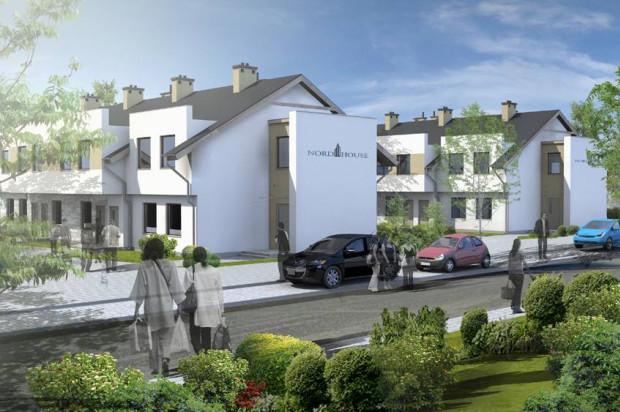 Wizualizacja I i II etapu. W każdym z budynków osiedla Cichy Zakątek powstało osiem mieszkań.