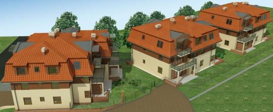 W ramach inwestycji powstały trzy wpasowane w otoczenie budynki.