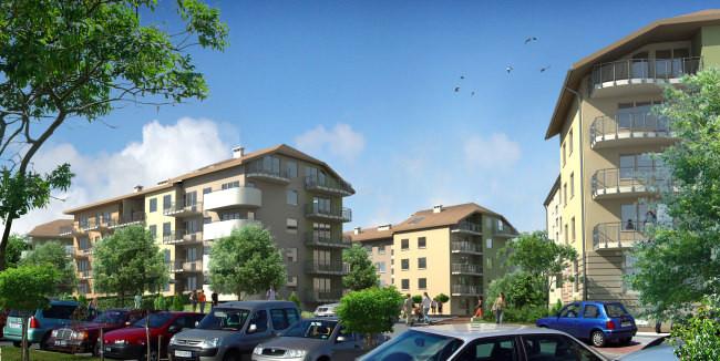 Wokół budynków powstały także naziemne miejsca parkingowe - dla mieszkańców i gości.