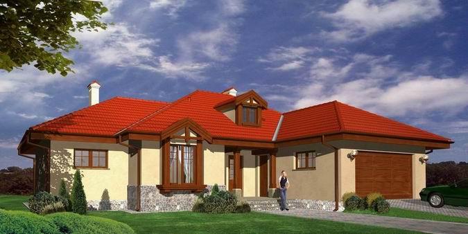 Projekt jednego z domów powstającego w ramach II zadania o powierzchni 151 lub 160 m kw.