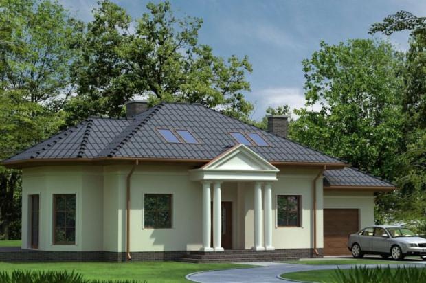 Domy w Pętkowicach powstają w trzech wariantach. Każdy z nich ma jednostanowiskowy garaż.