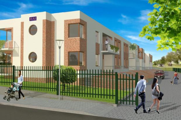 Domy na osiedlu przy ulicy Orzeszkowej będą ogrodzone, mieszkańcy będą mieli swoje ogródki.