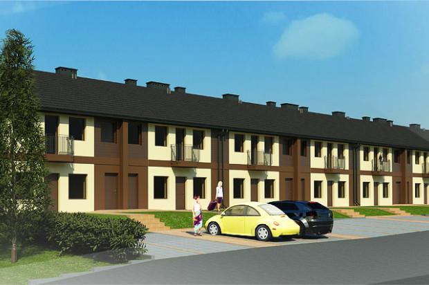 W każdym domu będzie jedno mieszkanie na parterze i jedno na piętrze.