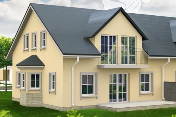 Domy na Złotej to klasyczna podmiejska architektura.