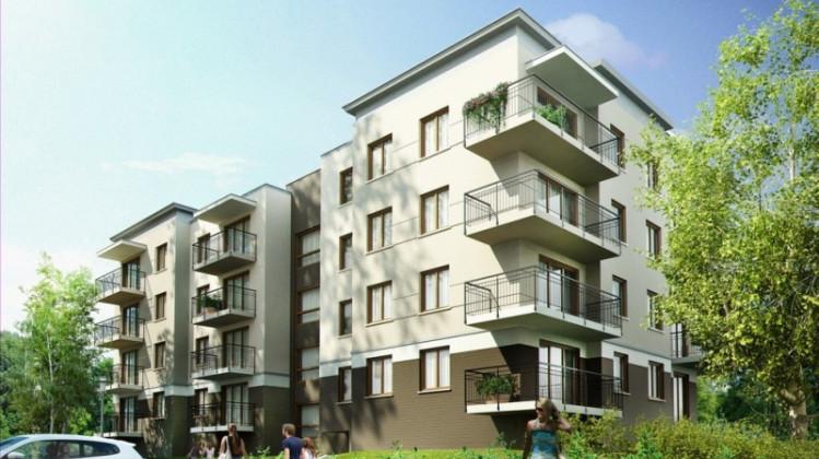 Część mieszkań - na wysokim parterze - będzie miała balkony, zamiast własnych ogródków.