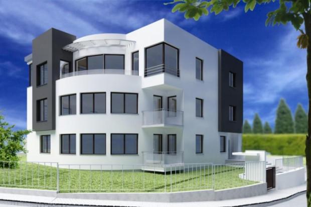 Budynek z płaskim dachem i dużymi przeszkleniami ma nawiązywać do najlepszych tradycji modernizmu.