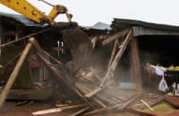 Wyburzenia pod Kolej Metropolitalną