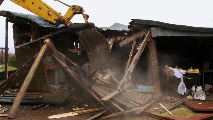 Pierwsze wyburzenia domów wświetle PKM.