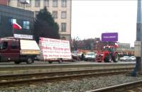 Strajk rolników w centrum Gdańska