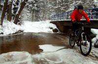 Zimowy wypad na rowerach