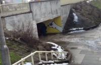 Zasypywanie tunelu dla pieszych na Podwalu Przedmiejskim