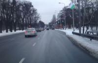 Biało-zielone flagi na uliach Gdańska