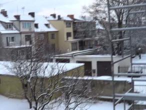 Gdańsk w marcu pod śniegiem