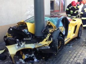 Wypadek lamborghini w Sopocie