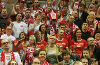 Kibice po meczu Polska-Szwecja