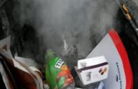 Palił się do opróżnienia miejski śmietnik:-)
