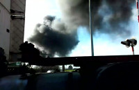 Pożar na ul. Hutniczej w Gdyni