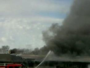 Pożar na ul.Hutniczej
