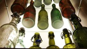 Kolekcja butelek z gdańskich browarów