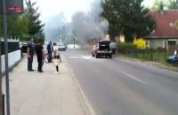 Pożar nissana na ul. Czyżewskiego w Gdańsku