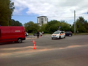 Dwa auta zderzyły się na ul. Morskiej w Gdyni