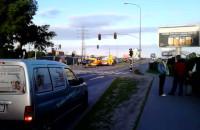Wypadek motocyklisty na Janka Wiśniewskiego w Gdyni