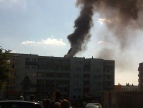 Pożar bloku na Chełmie. Ul. Lipowicza