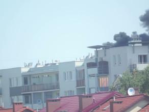 Pożar na Chełmie i skuteczna akcja gaśnicza
