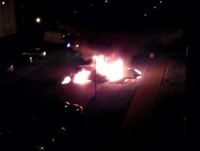Płonęły auta na osiedlu Nowy Horyzont