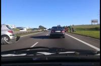 Kolizja 3 aut na obwodnicy w stronę Gdyni