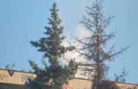 Pożar w starym opuszczonym budynku profilaktyczno-wypoczynkowym  w Gdyni Orłowie na ul. Zacisznej