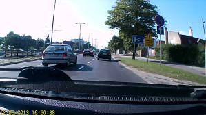 O krok od kolizji/wypadku VW Passat