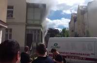 Pożar budynku przy ul. Haffnera w Sopocie