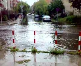 Zalane ulice wokół Politechniki Gdańskiej