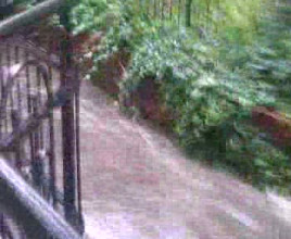 Mostek nad Strzyżą na wysokości ul. Aldony