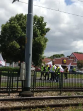 Manifestacja związkowców