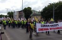 Marsz związkowców Energi w Gdańsku