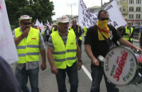 Manifestacja związkowców Energi w Gdańsku