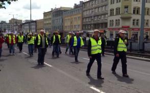 Marsz związkowców Energi