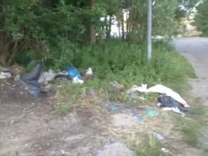 Dziki śmietnik w środku miasta