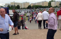 Kibice przed meczem Polska-Aregentyna