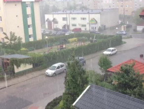 Gradobicie w Gdyni Fikakowie