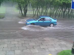 Zalana ul. Obodrzyców Sopot