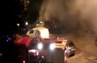 Pożar dwóch samochodów na Chełmie