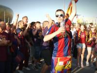 Kibice przed meczem Lechia - Barcelona