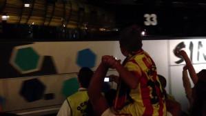 Wyjazd Barcelony ze stadionu PGE Arena