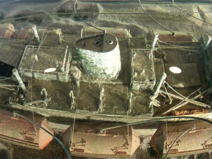 Panorama Dolnego Miasta zżurawia budowlanego.