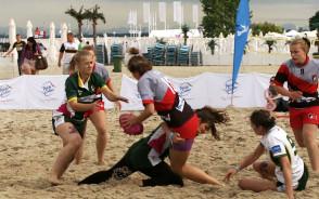 Zawody w rugby na plaży w Sopocie