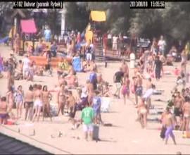 Kolejny film z monitoringu na plaży w Gdyni