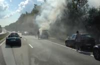 Pożar auta na obwodnicy Trójmiasta